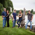 Willow tree and river location for family pictures