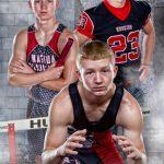 Multi sports banner of high school senior boy