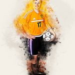 Drawing of boy with soccer ball for senior pictures