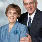 Older couple anniversary portrait